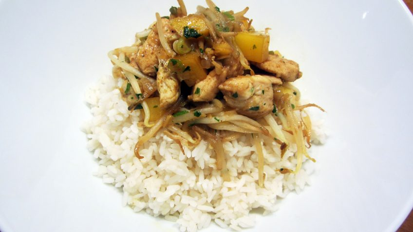 Poulet mangue et riz
