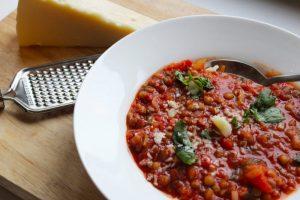 Soupe italienne aux lentilles