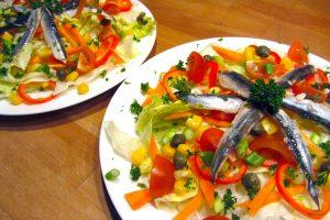 salade aux anchois et câpres