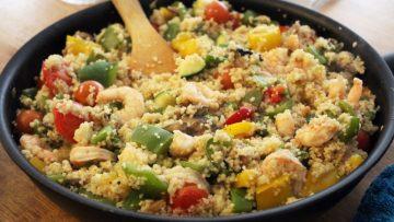 Couscous scampis légumes