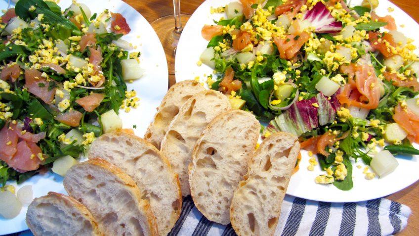 salade au saumon et asperges
