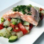 Filet de saumon et légumes