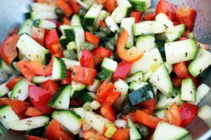 légumes croquants pour le barbecue