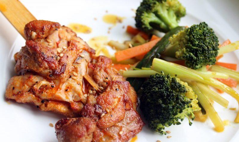 braisades de poulet et légumes
