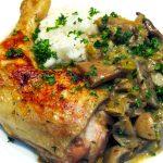 poulet champignon sauce au cidre