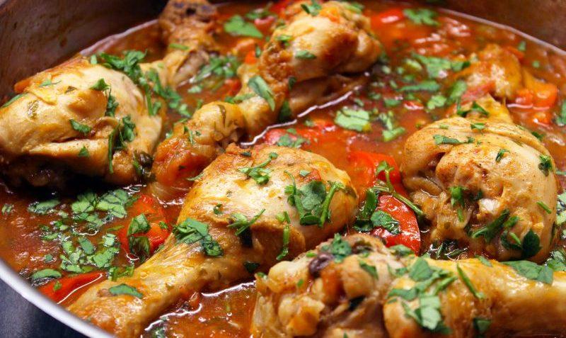 ailes de poulet et poivrons