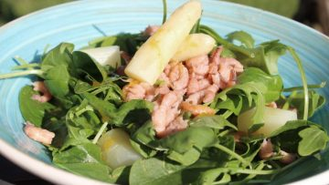 salade aux asperges et aux crevettes