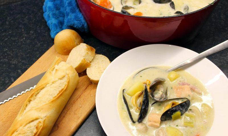 soupe de fruits de mer