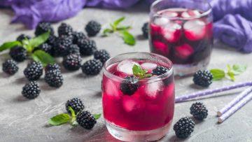 Gin tonic à la mûre et au citron
