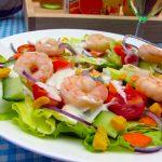 salade estivale aux scampis