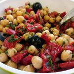 Salade de pois chiches et de poivrons