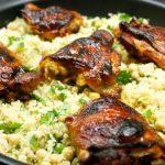 ailes de poulet épicées et couscous