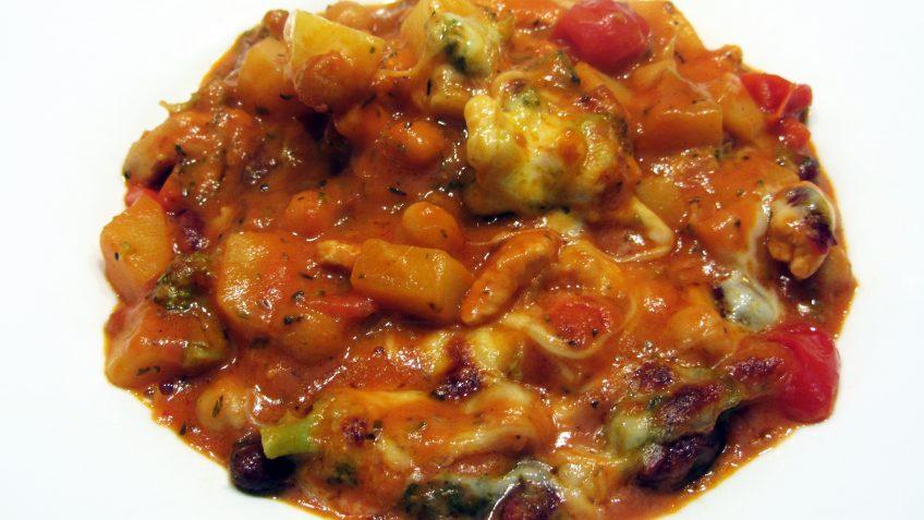 Dinde gratinée à la sauce tomate