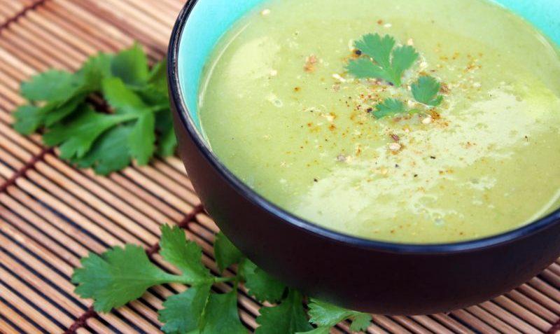 Soupe asiatique aux poireaux
