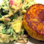 Burgers de poulet et purée de légumes