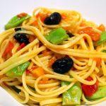 Linguine aux haricots et aux olives