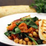 Ragoût de légumes et Halloumi