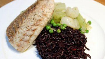 Filet de lieu noir et riz