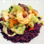 wok de poisson avec mélange de riz
