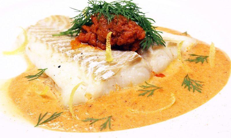 Cabillaud sauce tomate et crème