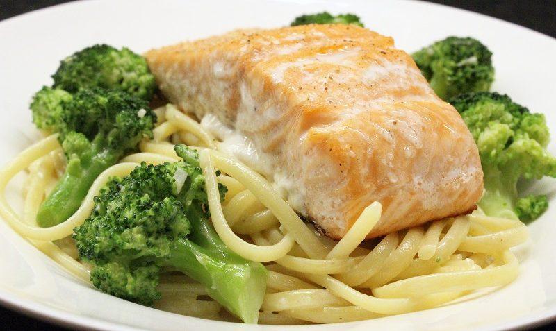 pâtes brocoli-saumon