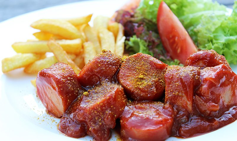 saucisse allemande au curry