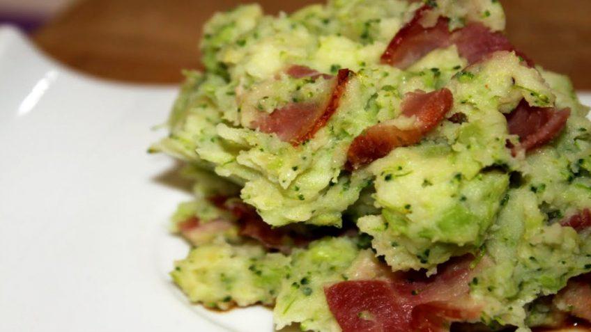 stoemp brocoli lard et sauce viande