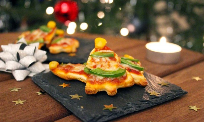 mini pizza de noël