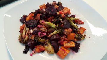 légumes sains grillés