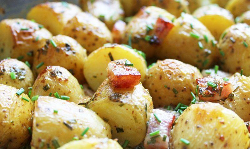 pommes de terre à la moutarde et bacon