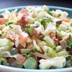 salade de choux aux lanières de poulet